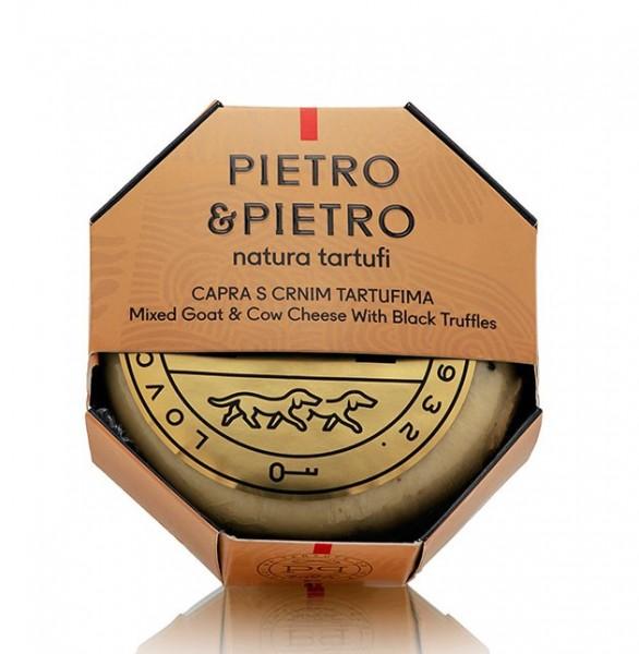 Pietro & Pietro Ziegenkäse mit schwarzem Trüffel