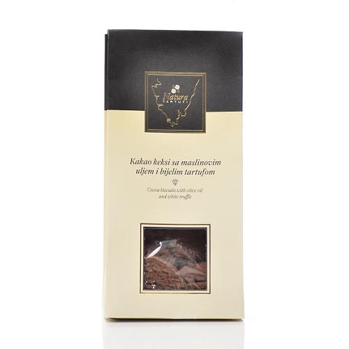 Kakaokekse mit weißem Trüffel